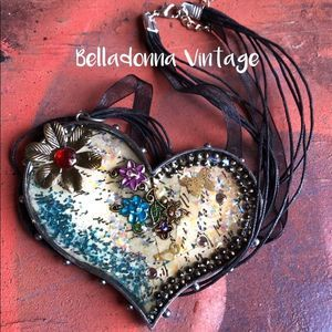 ❤️ Love Letter Bold Heart Mixed Media Necklace ❤️